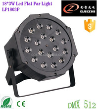 Cheap High Quality Good Effect 18pcs 3W RGB Led Flat Par Light for Party Wedding Stage