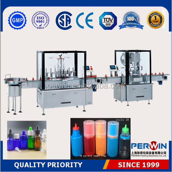 Free shipping auto vapor ejuice liquid filling line,e-juice filling machine
