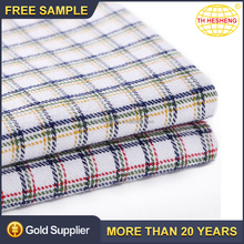 New style 100% cotton fabrics good quality wholesale plaid shirting woven cotton fabric