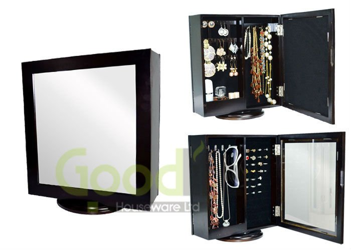 Dropship service wooden mirror jewelry cabinet export