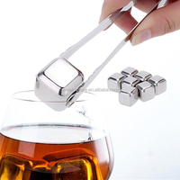 wholesale custom stainless steel ice cubes for wine