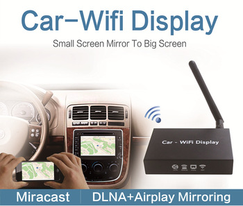 realized wireless screen mirroring between car dvd and smartphone carplay mirror link device
