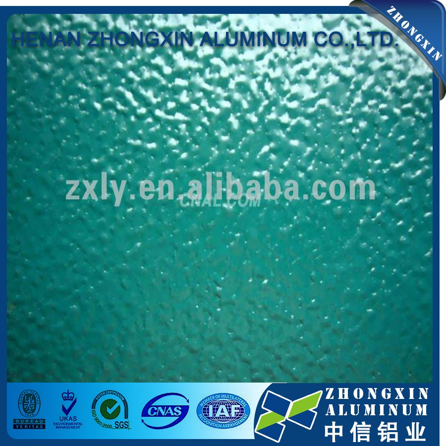 Supply AA1100 color coated embossed aluminum sheet / plate