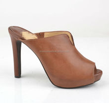 tan sexy ladies high heel shoes studs open toe shoes