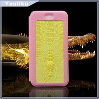 3d Sublimation crocodile leather transparent tpu soft mobile phone luxo case for iphone 6 / 6 plus flip cover