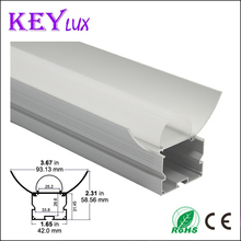 Aluminum Alloy 6063 Surface Mounted Aluminum LED Profile For SMD LED Strip Light Aluminum Extrusion