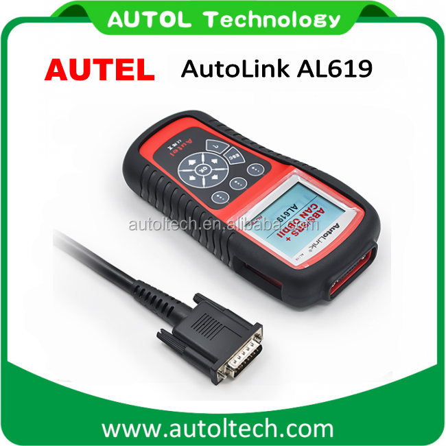 Escaner Automotriz Autel Autolink AL619 ABS/SRS + CAN OBD2 Diagnostic Scan Tool Auto Code Reader Scanner