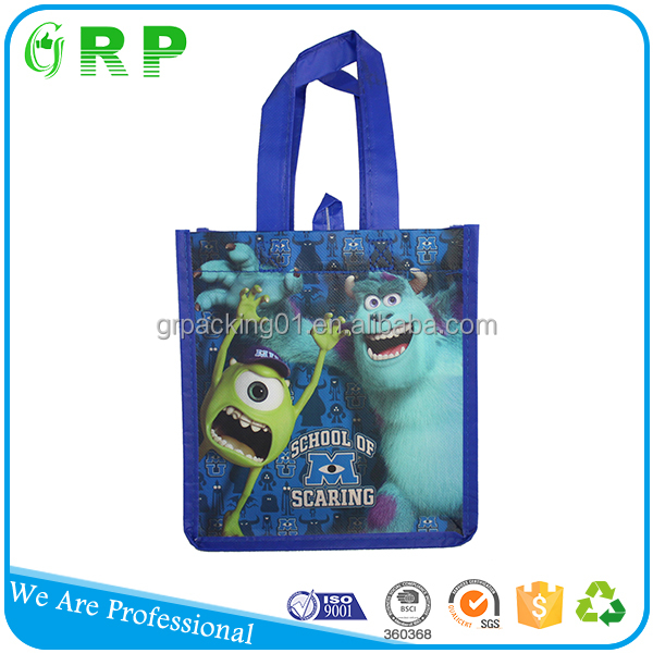 Personal logo printed easy carry portable promotional drawstring bag