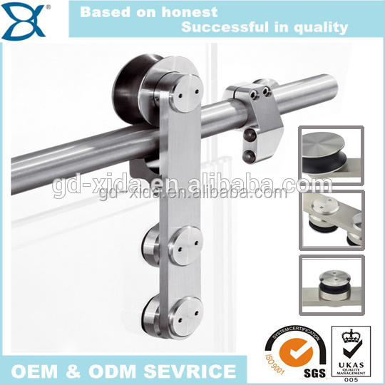 Top hanging glass door sliding screen door roller