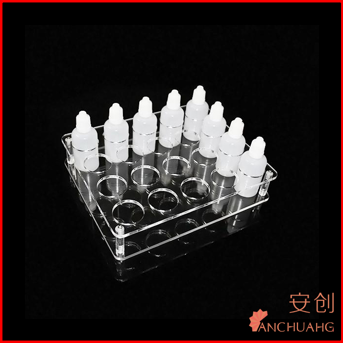 Clear Acrylic e cigarette e juice bottle display rack stand holder case for 10ml 20ml 30ml