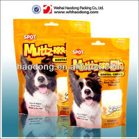 Cheap! pet food plastic bags with hang hole and zipper