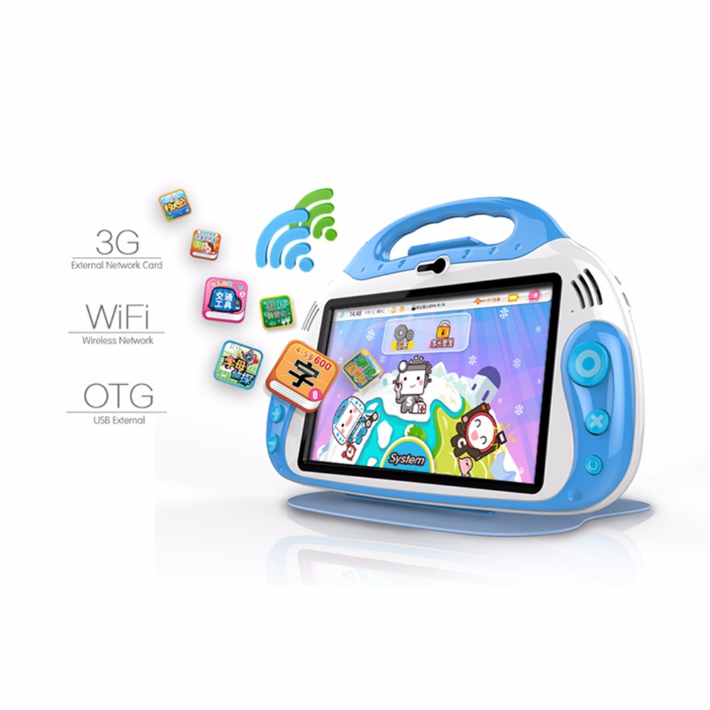 Quad processor customized kids educational 7 inch tablet cheap tablet pc