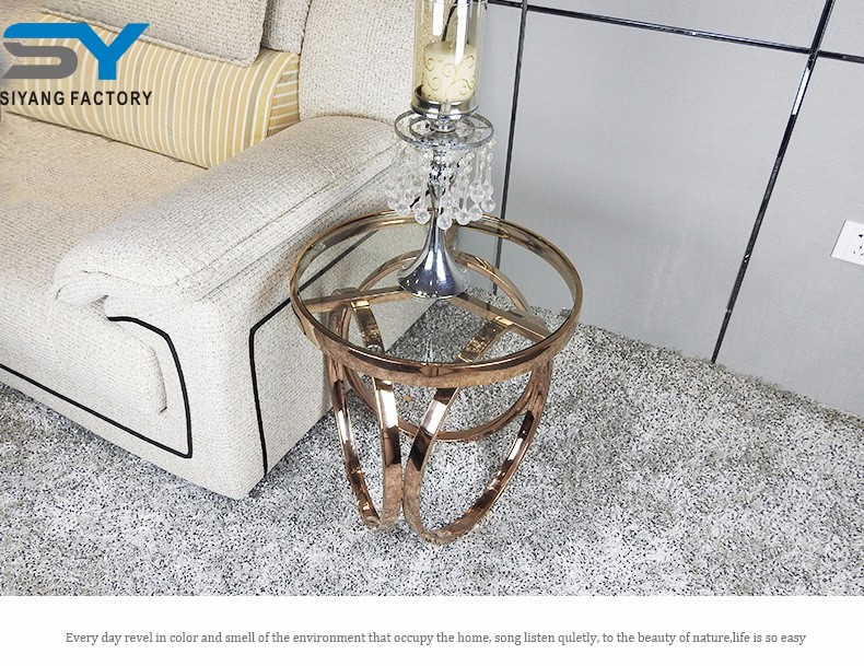 Living room decorative metal side table lamp end table JJ005