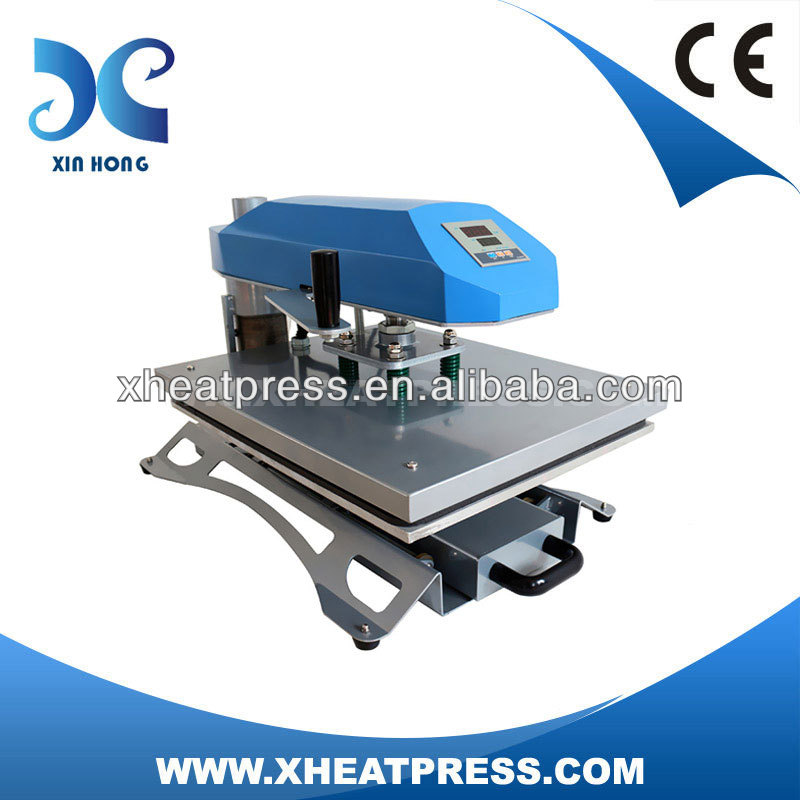 bullet design flat automatic pneumatic heat printing fabric heat transfer presser machine t-shirt heat system press FJXHB1