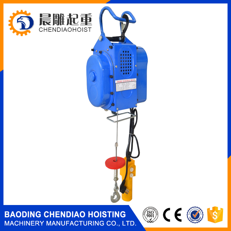 Wire Rope Sling Type and Electric Power Source Stationary wire rope hoist