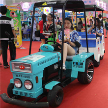 2017 new square amusement park electric tractor for electric sightseeing vehicles Sightseeing car