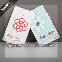 Custom Fashion Paper Hangtag For Lady