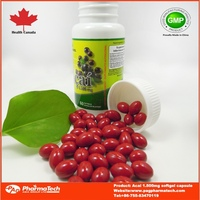 GMP OEM herbal acai berry softgel capsules