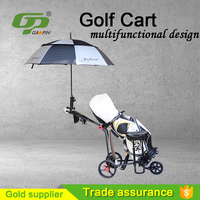 High quality portable umbrellar bench 3 Wheel Aluminium Alloy Golf Trolley PP4