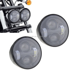 LED Daymarker Dyna Fat Bob Dual Headlight 40W motorcycle Headlamp for Harley