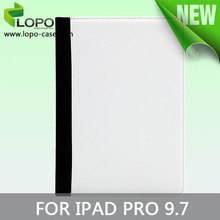 Latest high quality sublimation leather flip case for iPad Pro 9.7'