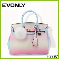 H2797 2015 Wholesale nice quality hot branded women handbag/pu handbag/purse