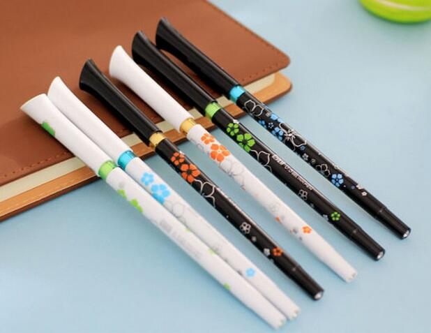 DIY creative stationery personalized Novelty gel pen fresh flower printed ballpoint pen best promotional gift office roller pens