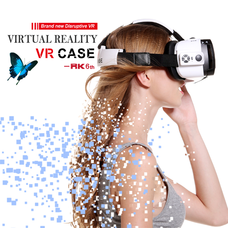 New Sex Video VR CASE BOX with Remote Controller virtual reality glasses cardboard Adjustable Ultra-clear Head Mounted Display