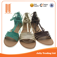 Attractive summer beach flat women shoe for sandals