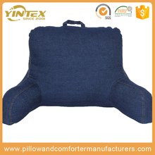 Watching tv pillow / Reading book pillow / bed rest back support reading pillow with arm