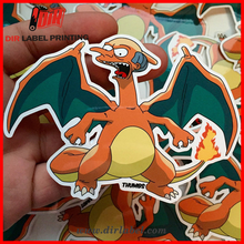 Chinese manufacturers direct sales wholesale custom die cut adhesive cartoon sticker