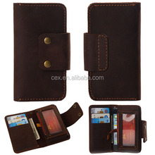 For Apple iPhone 5 5s 6 Wholesales Classical Real Leather Magnetic Flip with Wallet Card Slot Holder Stand Case