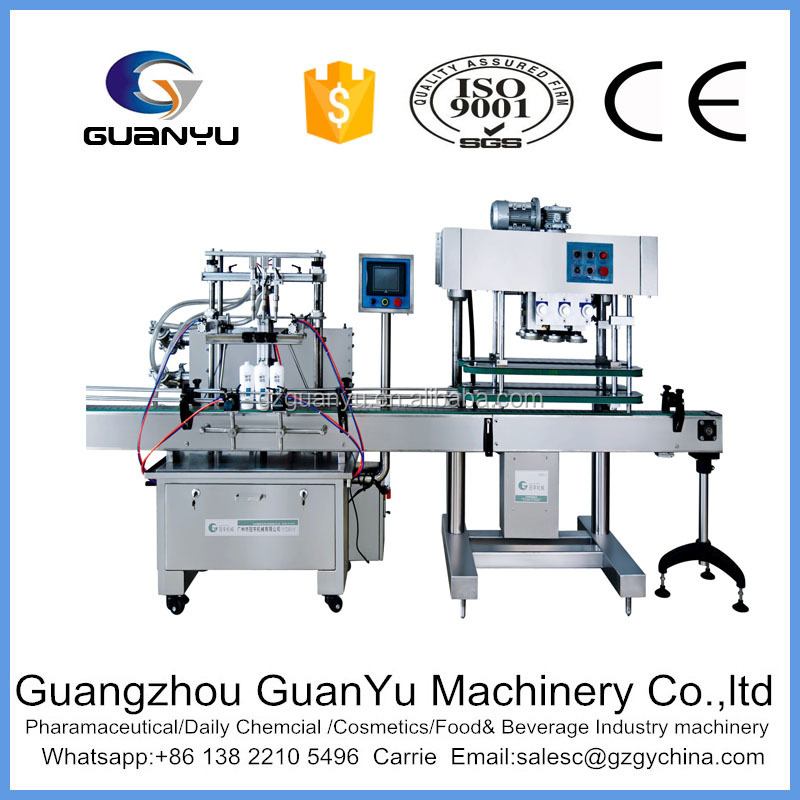 2017 hot sales 300ml automatic liquid soap production line for filling and capping