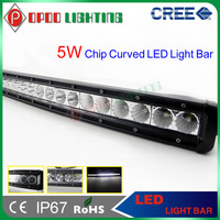"Curved Single row 14800lm 150w 34"" amber led off road light bar"