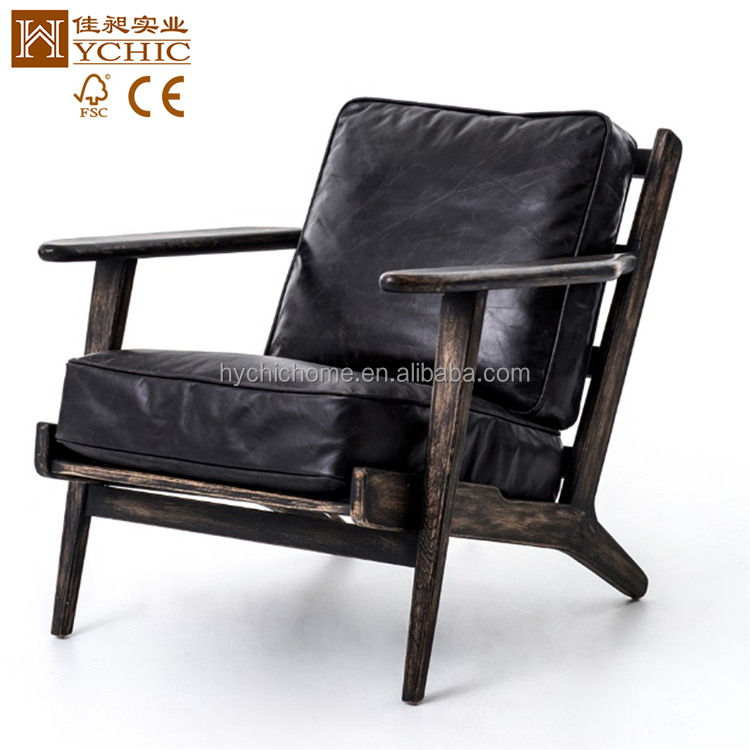 classic style living room luxury wood furniture real leather arm sofa chair sets