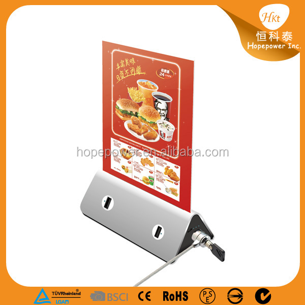New innovative products 10000mAh Restaurant/coffee shop menu stand power bank