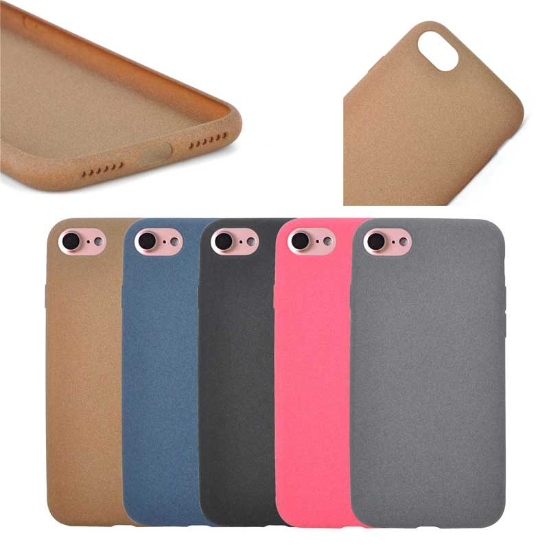 New Arrival High Quality Fuzzy 5 Colors Available TPU Case for iPhone 7, in Stock