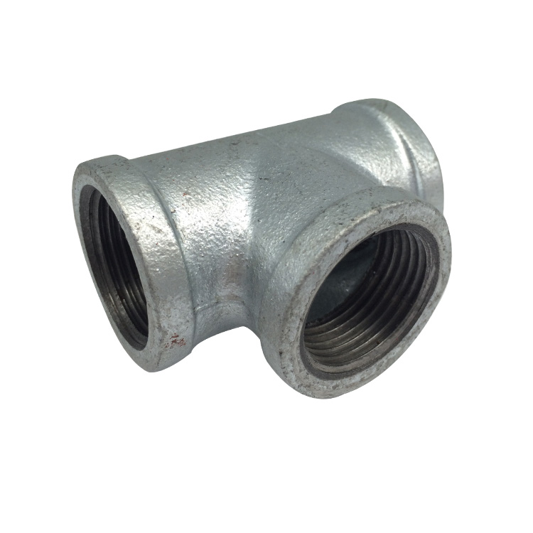High quality malleable iron pipe fitting hot dipped galvanized gi pipe tee