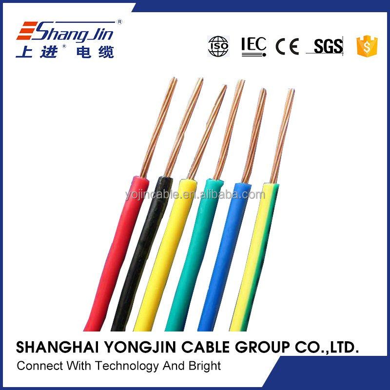 single core PVC insulated house electrical wire 1.5mm cable price