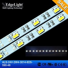 Edgelight 2014 new product 24v powered led strip light smd 3014 led lighting bar