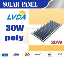 2016 new products Japan market hot seller LVDA good quality cheap price30w poly solar module panel