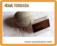 Transparent plastic inkjet business blank PVC card