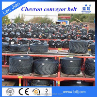 China Supplier Chevron Cleated Conveyor Belt, EP Fabric Rough Top Conveyor Belt