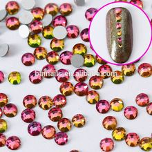 BIN 3D Nail Art Rhinestone Rainbow Color Flatback Hot Fi Stones