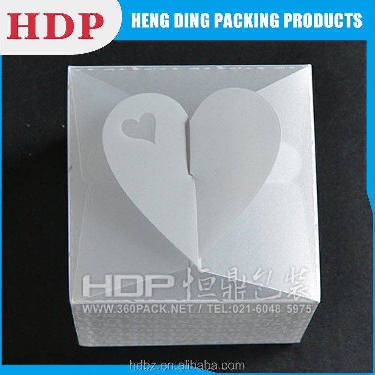 customized clear plastic box pet