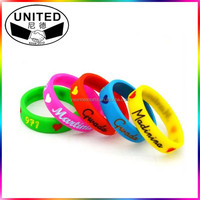 2016 new gift giveaways cheap silicone bracelet wristbands