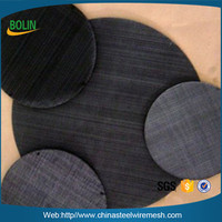 Spot Welded 30 50 80 Mesh Low Carbon Steel Round Screen Filter Meshes for Plastic Extruder