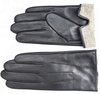 Car driving Plain style men winter leather gloves with wool or cashmere lining