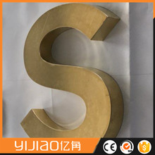 bent metal numbers brass channel alphabet letters for decoration