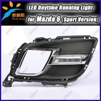New design led fog light drl led daytime running light for mazda 6 sport